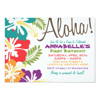 Summer Luau Hawaiian Invitation