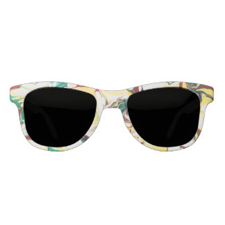 Summer Marbled Flowers Sunglasses