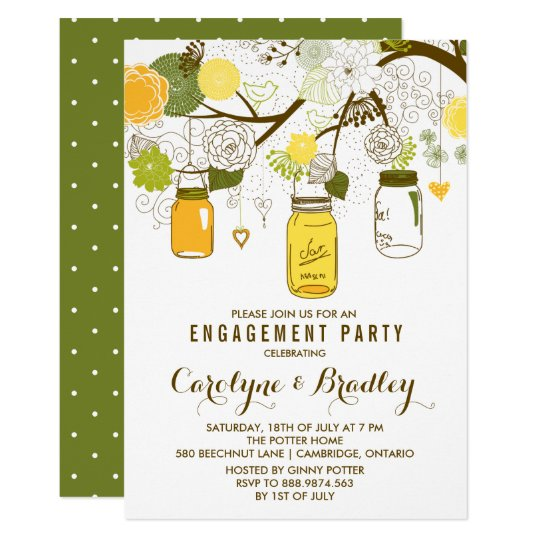 Summer Mason Jars | Engagement Party Invitation
