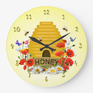 Summer Meadow Beehive Honey Clock