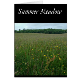 Summer Meadow Blank card