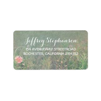 Summer Meadow Elegant Vintage Address Label