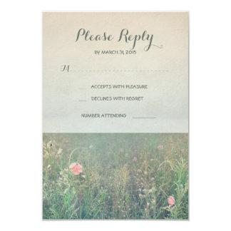 Summer meadow wedding RSVP cards 9 Cm X 13 Cm Invitation Card