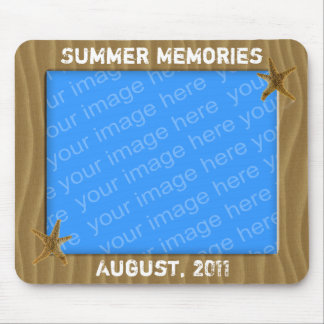 Summer Memories Photo Frame Mousepad Mouse Pads