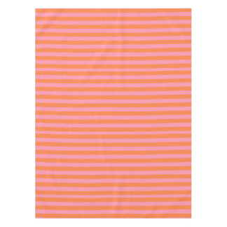Summer Mood Orange Pink Lines Tablecloth