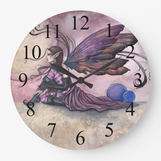 Summer Moon Fairy Fantasy Art Wall Clock