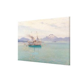 Summer Morning at Molde, 1892 Canvas Print