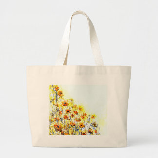 Summer Morning White Print Jumbo Tote Bag
