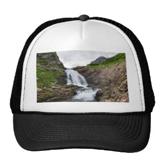 Summer mountain landscape - beautiful waterfall cap