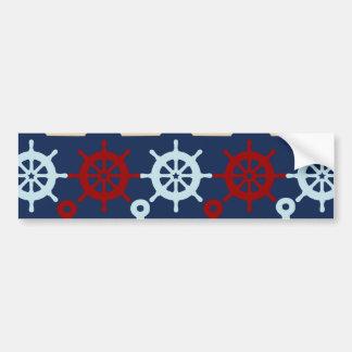 Summer Nautical Theme Anchors Sail Boats Helms Bumper Sticker