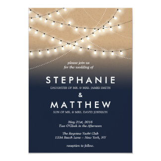 Summer Night Lights Invitations  | Weddings