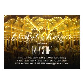 Summer Night Merry Go Round Bridal Shower Card