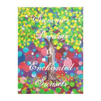 """Summer Oak"" Customizable Canvas Print"