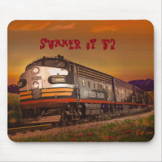 Summer of '52 Southern Pacific F Unit in CA Mouse Mat