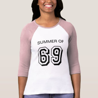 Summer of 69 womens pink and white top
