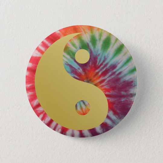 Summer Of Love Yin and Yang 6 Cm Round Badge