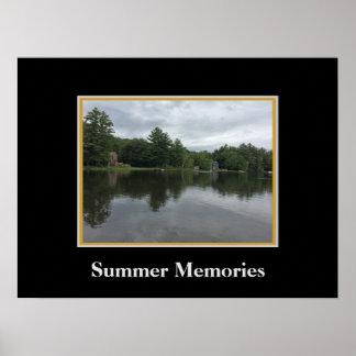 Summer on Sunrise Lake Poster