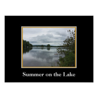 Summer on the Lake in New England Poster