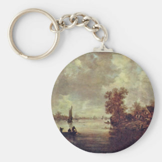 Summer On The River By Goyen Jan Van (Best Quality Basic Round Button Key Ring