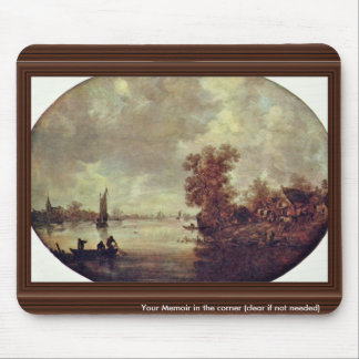 Summer On The River By Goyen Jan Van (Best Quality Mouse Pad