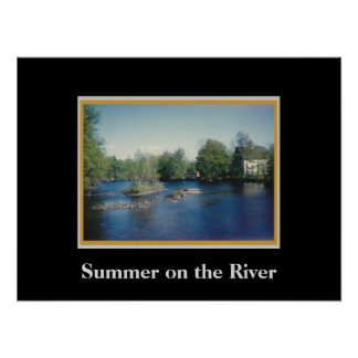 Summer on the River Poster