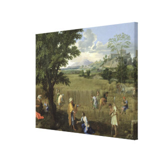 Summer, or Ruth and Boaz, 1660-64 Canvas Print