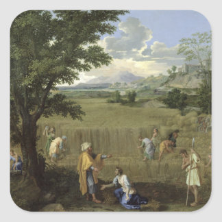 Summer, or Ruth and Boaz, 1660-64 Square Sticker