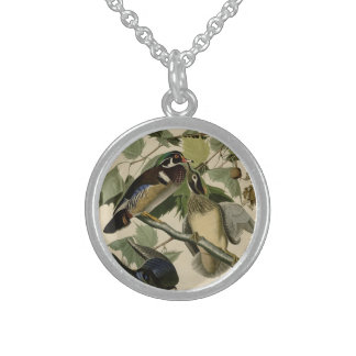 Summer or Wood Duck Sterling Silver Necklace