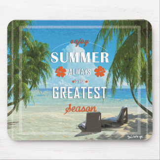 Summer-orange Mouse Mat