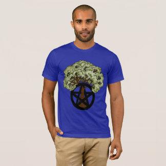 Summer Pagan Pentacle Tree T-Shirt