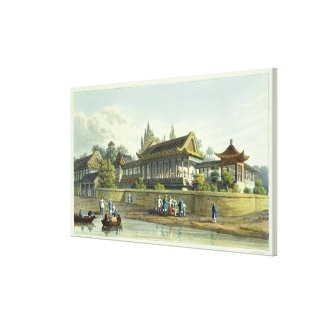Summer Palace of the Emperor, Opposite the City of Canvas Print