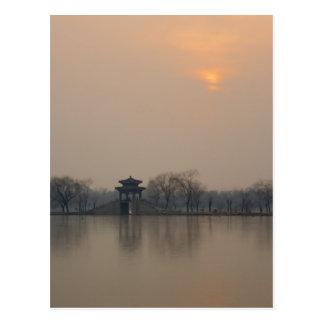 Summer Palace Sunset Postcard