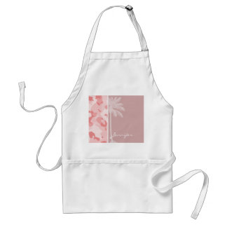 Summer Palm Baby Pink Camo; Camouflage Standard Apron