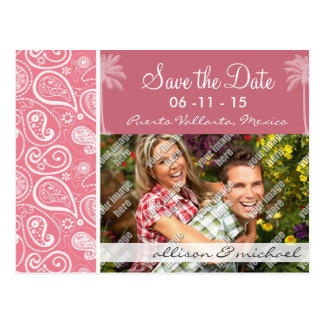 Summer Palm; Blush Pink Paisley; Floral Post Cards