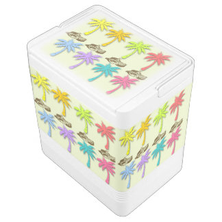 Summer Palm Trees Igloo Can Cooler Igloo Cooler
