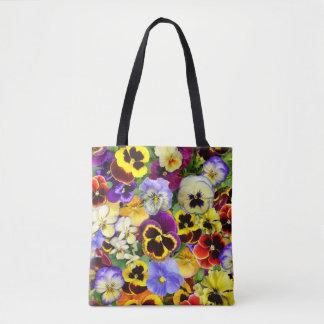 Summer Pansies Tote Bag