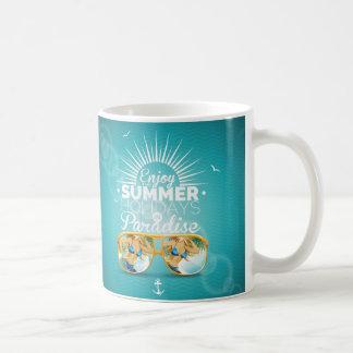 Summer Paradise Design Basic White Mug