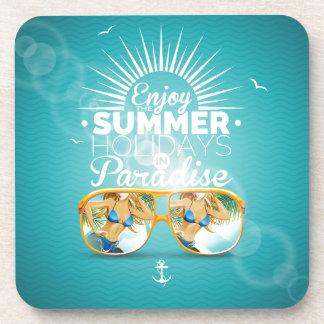 Summer Paradise Design Beverage Coasters