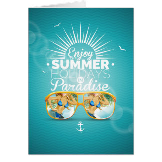 Summer Paradise Design Greeting Card