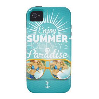 Summer Paradise Design Case-Mate iPhone 4 Covers