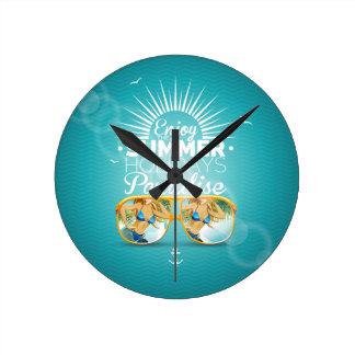 Summer Paradise Design Clock