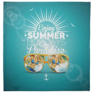 Summer Paradise Design Cloth Napkin