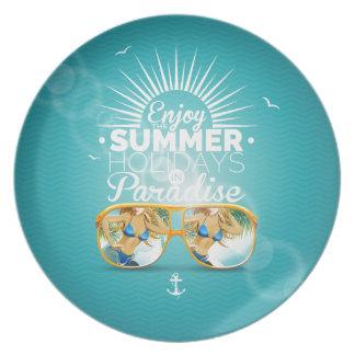 Summer Paradise Design Dinner Plates