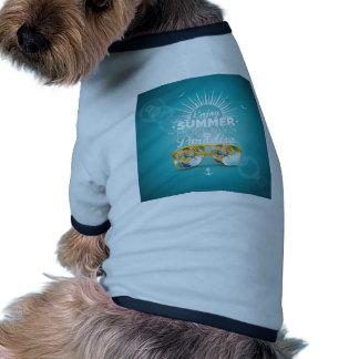 Summer Paradise Design Ringer Dog Shirt