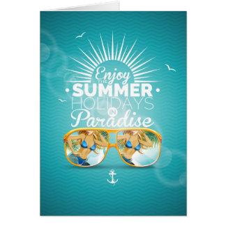 Summer Paradise Design Greeting Card