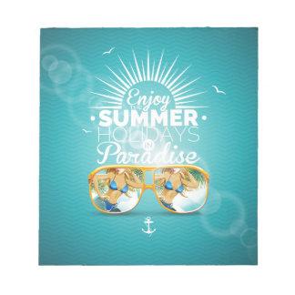 Summer Paradise Design Memo Notepad