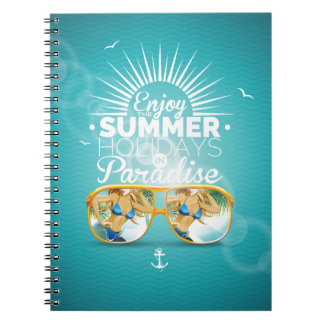 Summer Paradise Design Spiral Note Books