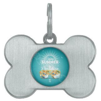 Summer Paradise Design Pet ID Tags