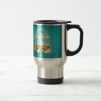 Summer Paradise Design Stainless Steel Travel Mug