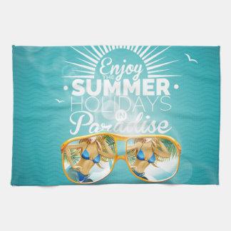 Summer Paradise Design Hand Towel